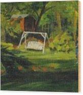 Hiedi's Swing Wood Print