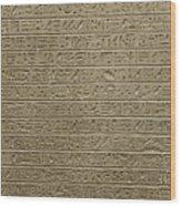 Hieroglyph Iv Wood Print