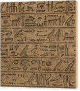 Hieroglyph Wood Print
