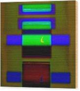 Hieroglyphic Wood Print
