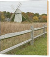 Higgins Farm Windmill Brewster Cape Cod Wood Print