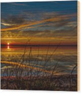 Higgins Lake The Perfect Sunset Wood Print
