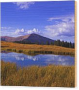 High Country Pond Wood Print