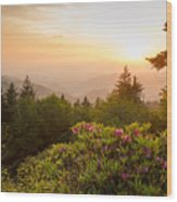 High Country Sunset Wood Print