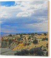 High Desert Ridge Wood Print