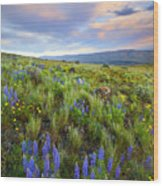 High Desert Spring Wood Print by Mike  Dawson