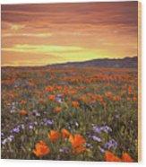 High Desert Sunset Serenade Wood Print