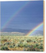 High Dessert Rainbow Wood Print