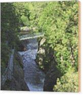 High Falls Gorge Wood Print