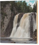 High Falls Of Tettegouche State Park 1 Wood Print