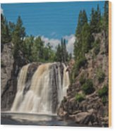 High Falls Of Tettegouche State Park 4 Wood Print