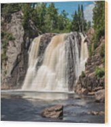 High Falls Of Tettegouche State Park2 Wood Print