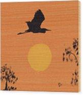 High Flyer Wood Print