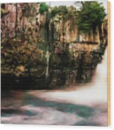 High Force With A Watercolour Effect. Wood Print