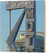 High Hat Motel Las Vegas Wood Print