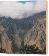 High In The Andes Wood Print