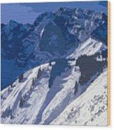 High In The Bavarian Alps Wood Print