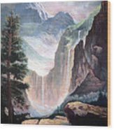 High In The Rocky Mountains Wood Print