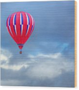 High In The Sky - Hot Air Balloon Wood Print
