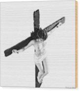 High Key Female Crucifix Wood Print