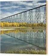 High Level Bridge In Lethbridge Wood Print