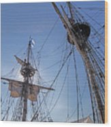 High On The Foremast Wood Print