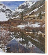 High Peak Reflections Wood Print
