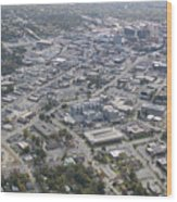 High Point Nc Aerial Wood Print