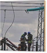 High Power Workers Wood Print