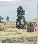 High Prairie Home Wood Print