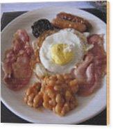 High Protein Breakfast Wood Print
