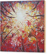 High Red Wood Print