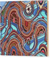 High Rise Abstract Phoenix Wood Print