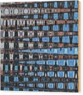 High Rise Construction Abstract Wood Print