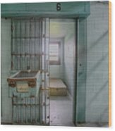 High Risk Solitary Confinement Cell In Prison Wood Print