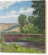 High Riverside Wood Print