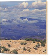 High Road To Taos Panorama Wood Print