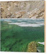 High Sierra Tarn Wood Print