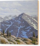 High Sierras Study Wood Print