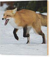 High Speed Fox Wood Print