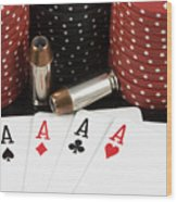 High Stakes Poker Wood Print