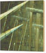 High Tech Blur Wood Print