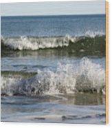 High Tide Coming Wood Print