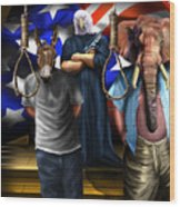 High Treason - State Of The Union-a House Divided1 Wood Print