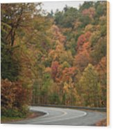 High Walls Of Fall Colors Wood Print