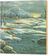 High Winter Camp Wood Print