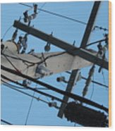 High Wire Wood Print