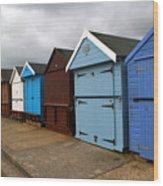 Highcliffe Huts 4 Wood Print