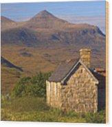 Highland Cottage At Elphin Wood Print