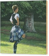 Highland Dancer Wood Print